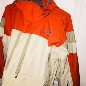 The North Face Jacket men's orange and tan